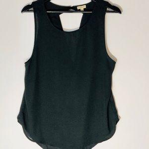 Lily White Black Scoop & Drapped Neck Blouse Sz XL